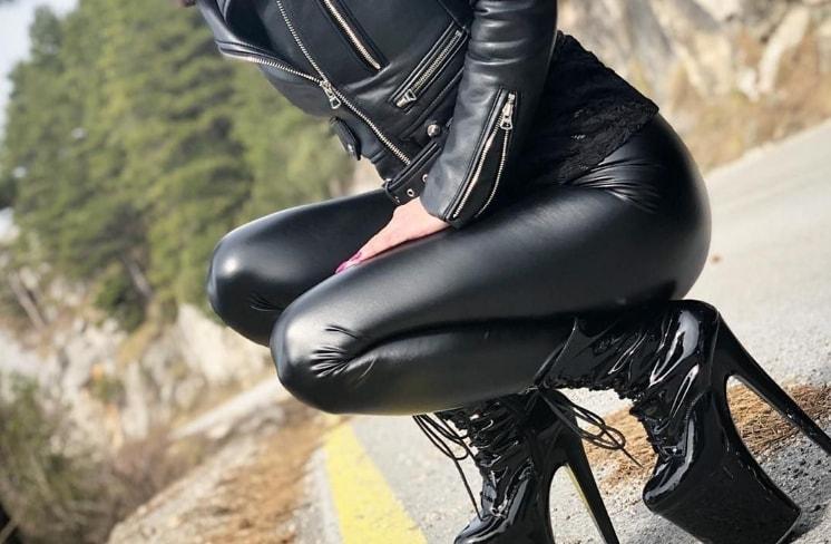 Pantaloni de dama din piele modele noi