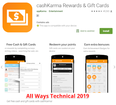 Earning Money Apps For Android - cashKarma Rewards & Gift Cards