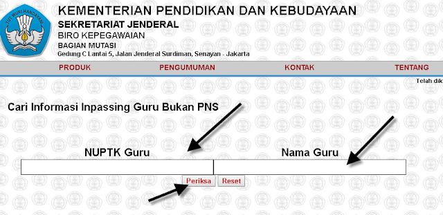 dan jabatan fungsional guru Non PNS dengan kepangkatan Cara Cek Informasi SK Inpassing Guru Bukan PNS