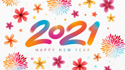 Happy New Year colorful painting background