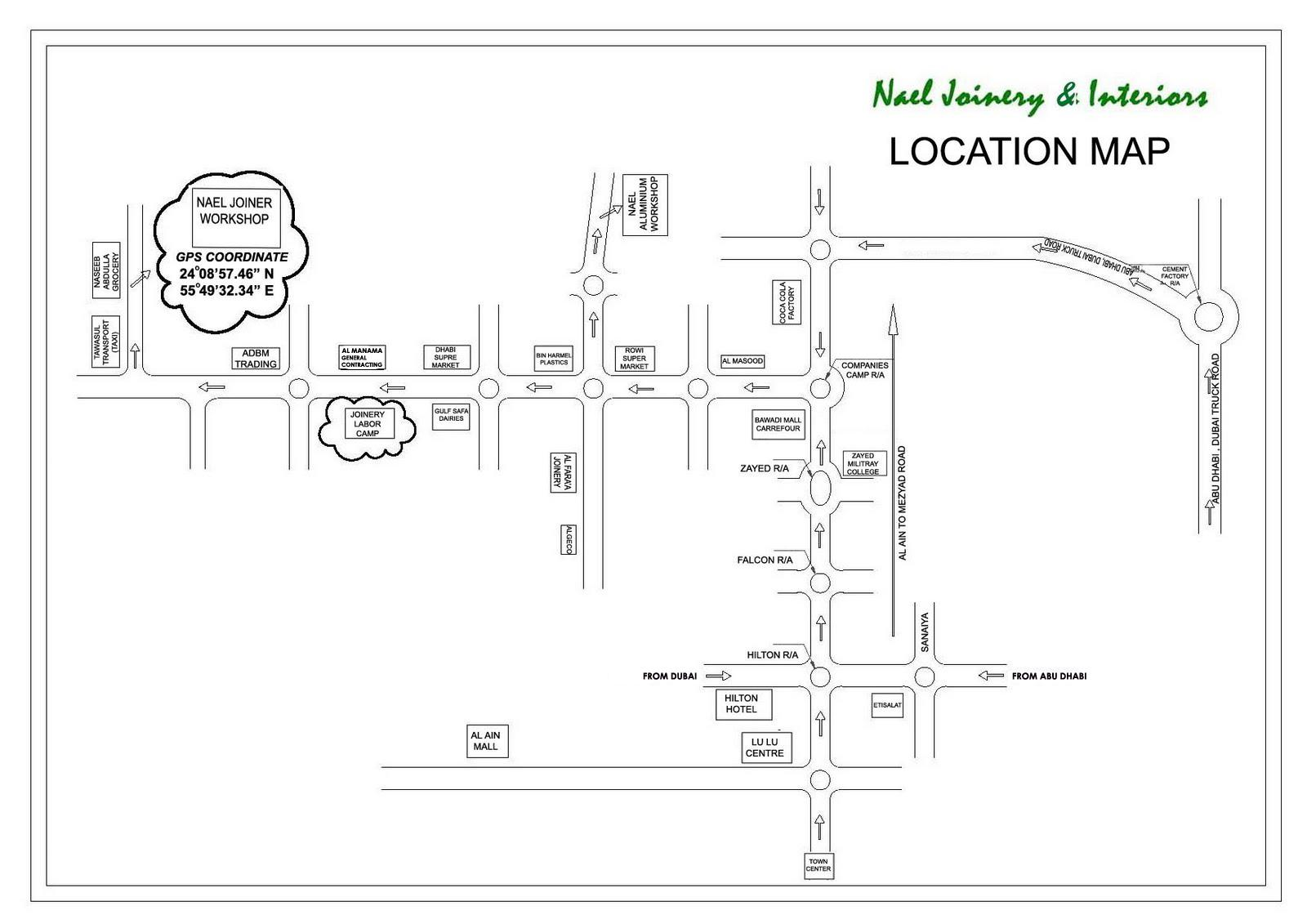 Location Map Nael Joinery Amp Interiors