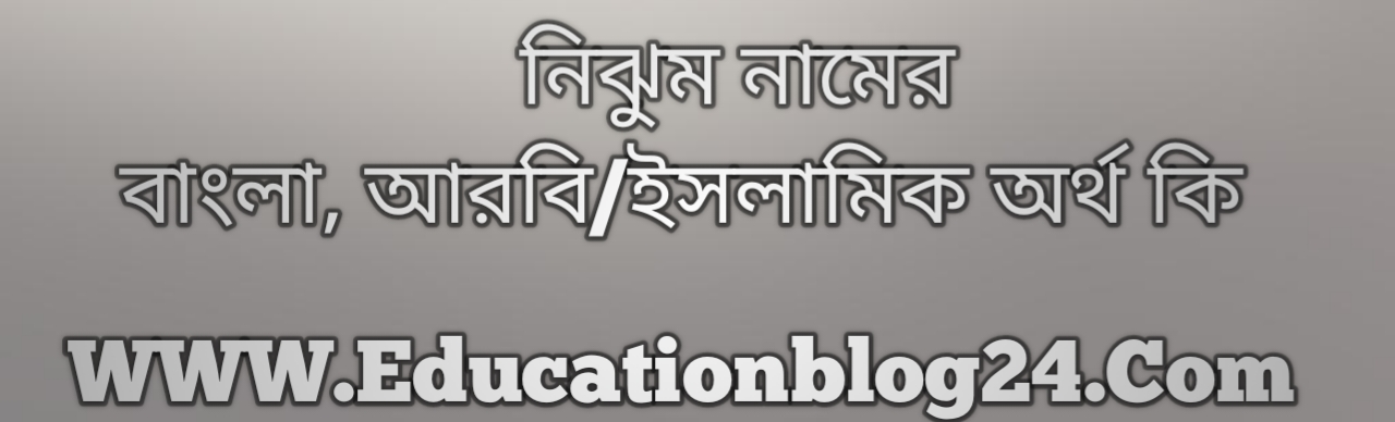 Nijhum name meaning in Bengali, নিঝুম নামের অর্থ কি, নিঝুম নামের বাংলা অর্থ কি, নিঝুম নামের ইসলামিক অর্থ কি, নিঝুম কি ইসলামিক /আরবি নাম