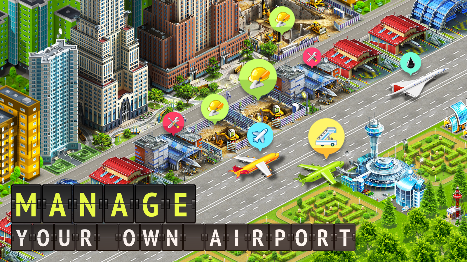 Download Airport City Airline Tycoon MOD APK Terbaru