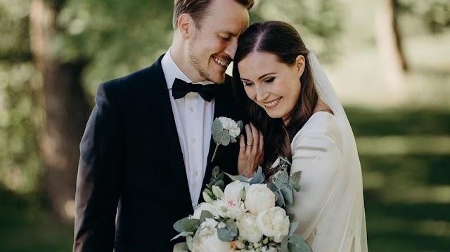 Sanna Marin finn kormányfő és férje, az egykori focista, Markus Räikönnen a hét végén fogadott örök hűséget egymásnak