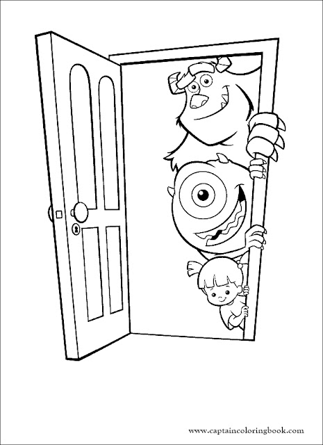Monsters Inc Coloring Page 02 Coloring Page - Free Monsters, Inc ... | 640x465