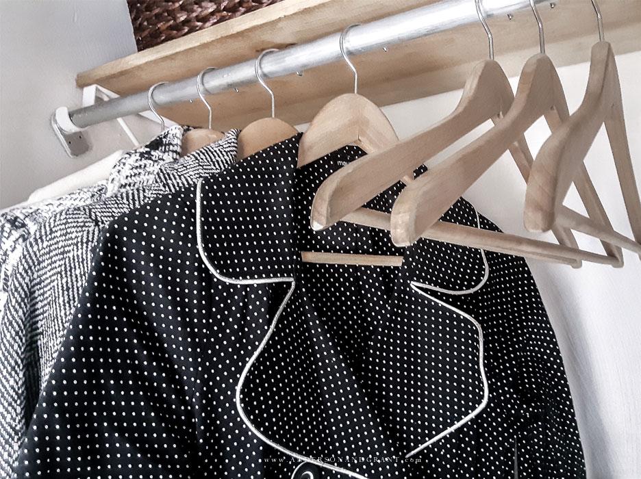 Matching hangers in coat closet