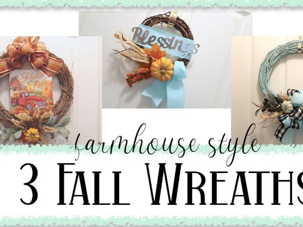 3 Fall Wreaths | Fun DIY Projects