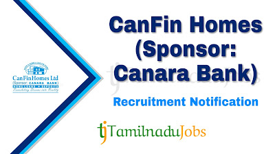 Can Fin Homes Recruitment notification 2020, govt jobs in bank, govt jobs for graduate, central govt jobs