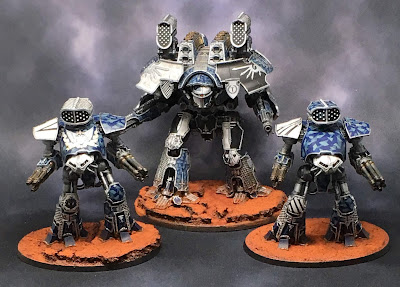 Adeptus Titanicus Legio Tempestus Battle Titans - light box
