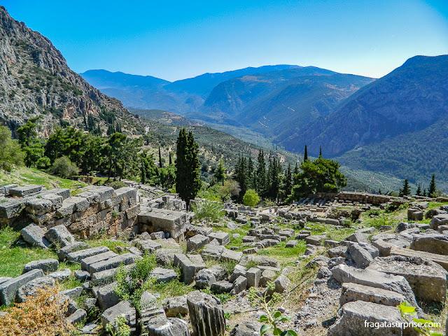 Ruínas do Santuário de Delfos, Grécia