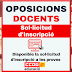 Oposicions docents: Sol·licitud d'inscripció a les proves
