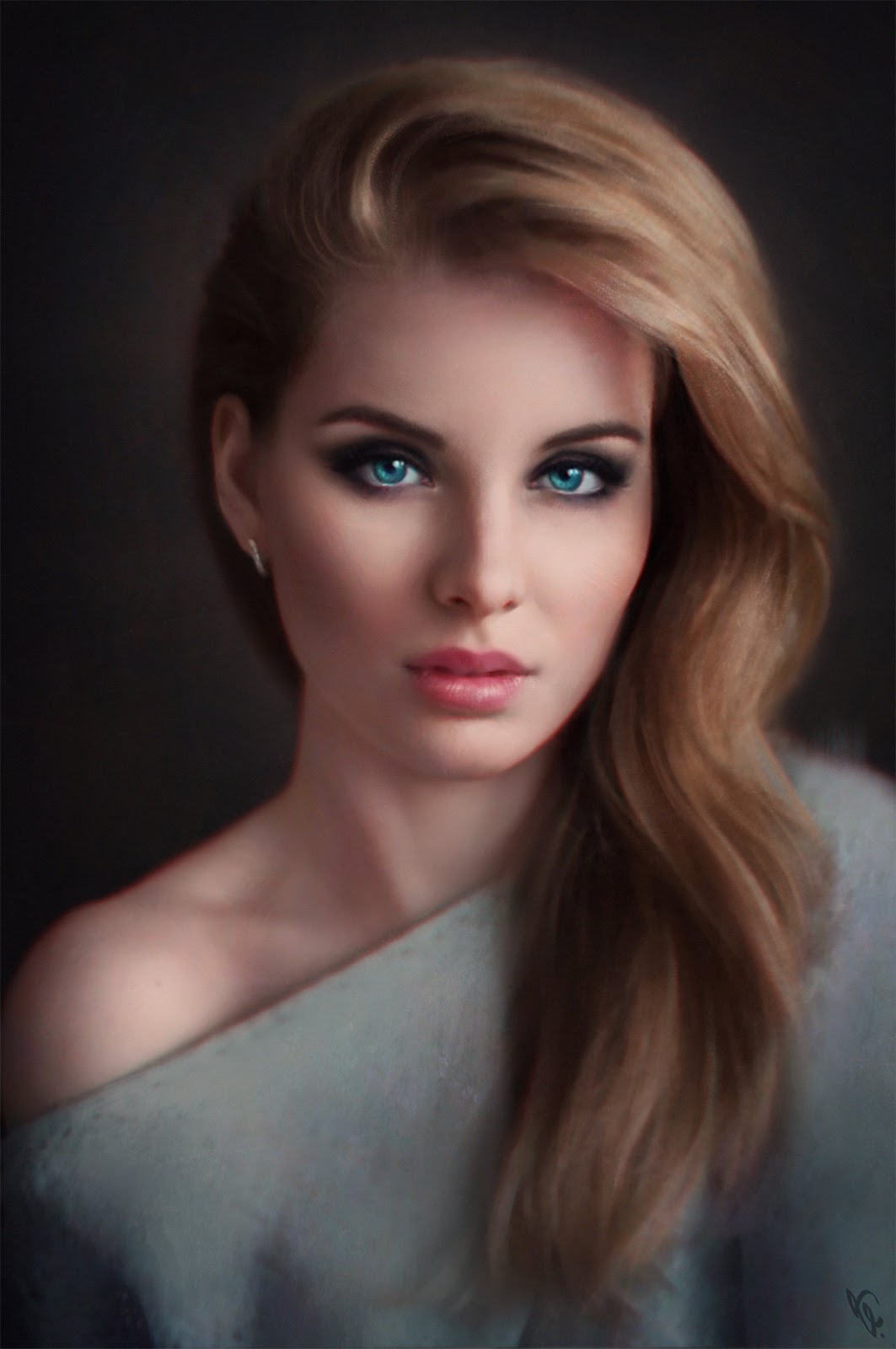 Top 21 beautiful digital painting by angel ganev cgistation - Beautiful woman painting hd ...