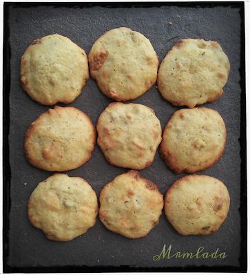 Cookies de chocolate blanco y pistachos