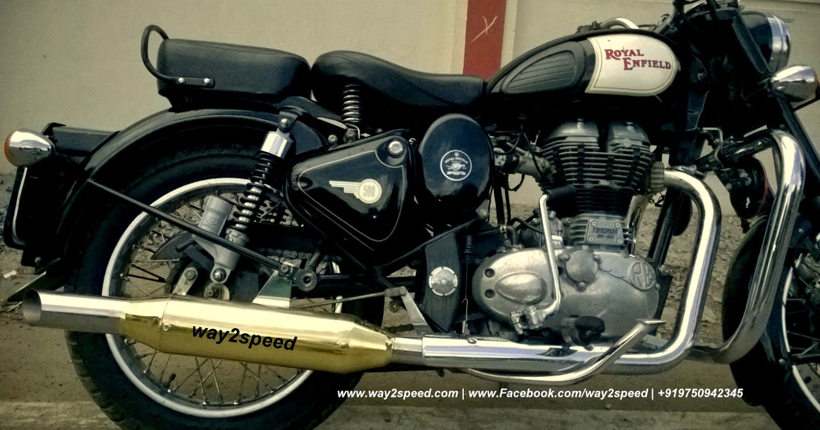 Way2Speed Royal Enfield Rifle Exhaust - Way2Speed Performance-4367