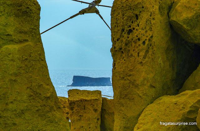 Ilha de Filfla, no Arquipélago de Malta