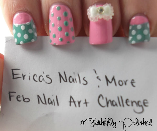 Nail Art February Challenge: Faithfully Polished: February Nail Art Challenge: Half Moons