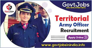 Territorial Army Officer Recruitment 2021