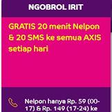 UPDATE...!!! TARIF NELPON NGOBROL IRIT DARI AXIS TERBARU