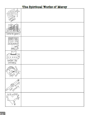 works of mercy coloring pages - photo#9