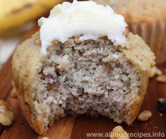 Soft Keto Banana Nut Muffins