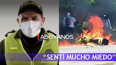 """""""Pensé que iba a perder la vida"""": policía atacado a piedra por vándalos en el Huila"""