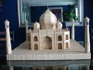 Mezquita con palillos para dientes o Picadientes de madera