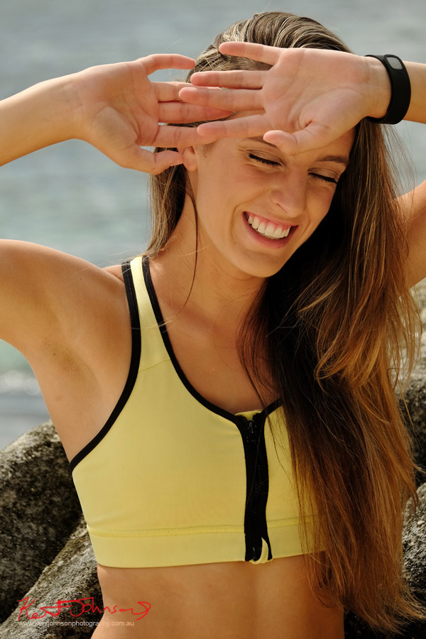 Sunny sports and fitness portfolio shot. photographed in Sydney Australia by Kent Johnson.