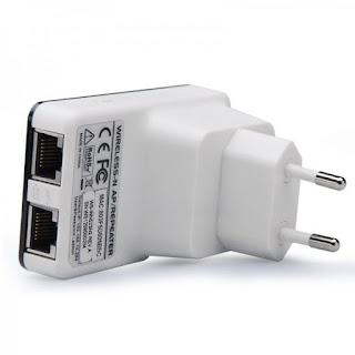 Amplificateur wifi contenant deux entrées Ethernet RJ45
