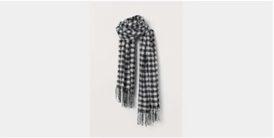 The black and white check scarf, now 17.99,