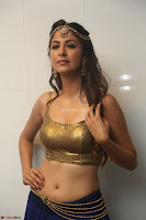 Malvika Raaj in Golden Choli and Skirt at Jayadev Pre Release Function 2017 ~  Exclusive 046.JPG