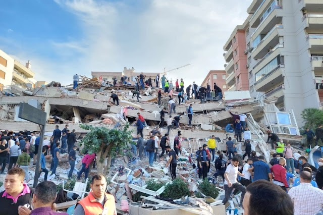 Istanbul A 7.0 magnitude Earthquake hit the Aegean Sea ,Damaging Both Greece And Turkey, The number of dead and injured is high