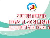 Silabus Tematik Kelas 4 SD Semester 2 Kurikulum 2013 revisi 2017