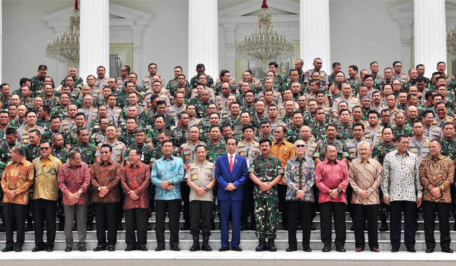 Buka Rapim TNI-Polri 2019, Presiden Jokowi: Dunia Berubah, Kita Harus Merespon Cepat