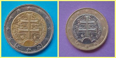 2 y 1 Euro Eslovaquia