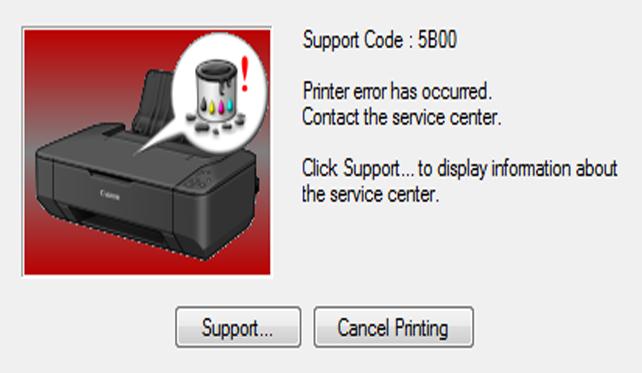 Mengatasi Pesan Error 5b00 Dan Melakukan Reset Pada Printer Canon