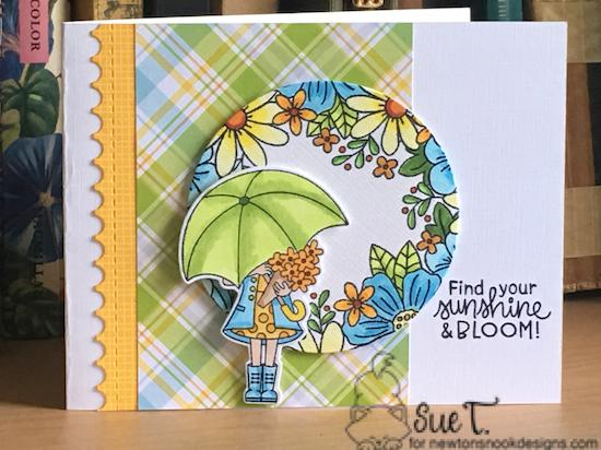 Find your sunshine by Sue features by Floral Fringe, Loads of Bloom, and Framework by Newton's Nook Designs; #newtonsnook