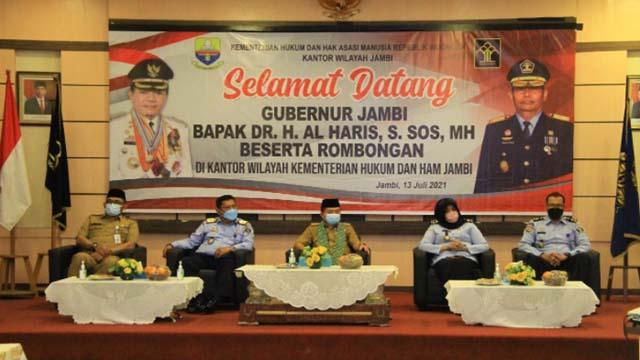 Gubernur Jambi Al Haris Kunker ke Kantor Wililayah Kemenkum dan HAM Jambi