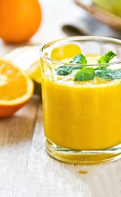 3. عصير البرتقال والليمون وبذور الكتان