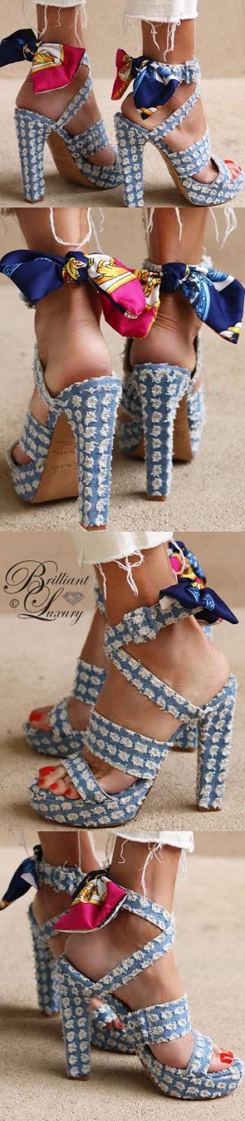 Brilliant Luxury ♦ Alameda Turquesa Denim Affair sandals
