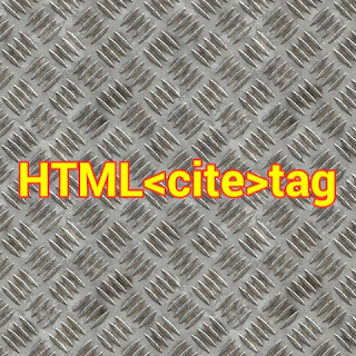 HTML <cite> tag