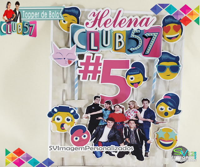 Topo de Bolo Club 57 festa anos 60 dicas e ideias para decoração de festa personalizados