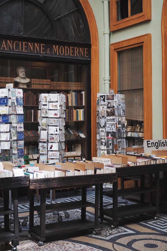 Librairie de la galerie Vivienne à Paris