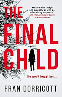 The Final Child book cover - red writing on a white background with black tree branch silhouettes