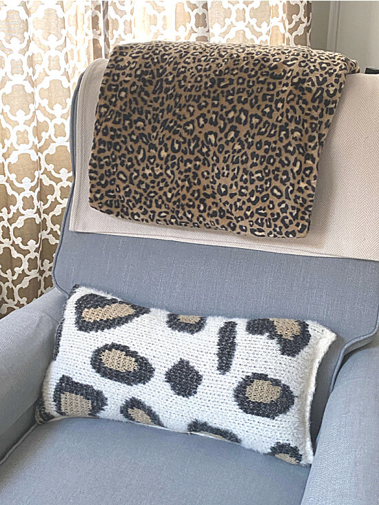 Cheetah print blanket and pillow cover
