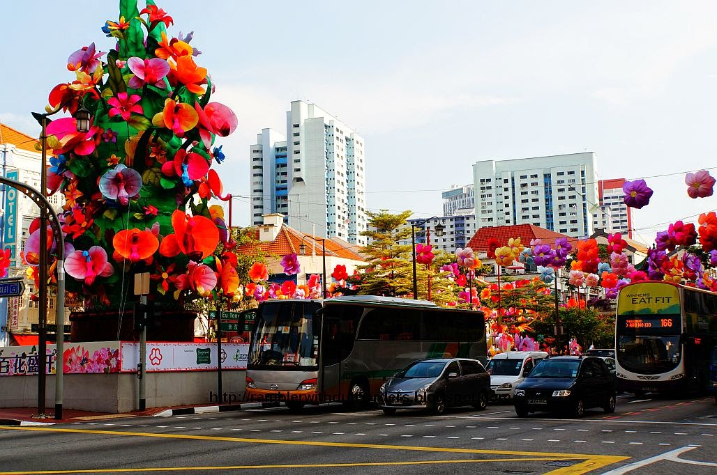 Mid-Autumn Festival street decoration in Chinatown in 2014