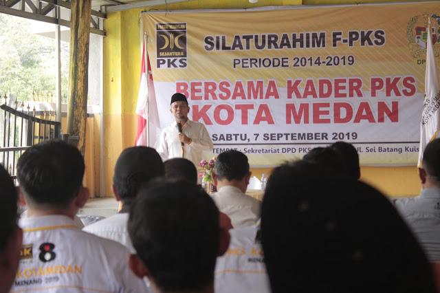 Silaturahim dengan Kader, Fraksi PKS DPRD Medan Sampaikan Kinerja Lima Tahun