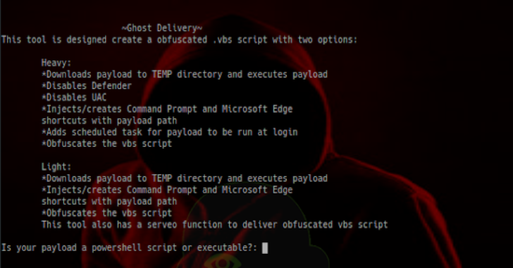 GhostDelivery : .VBS Script To Deliver Payload With Persistence