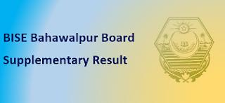 Intermediate Supplementary Result 2020 BISE Bahawalpur