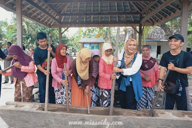 kesenian gejog lesung khas desa wisata kebon agung