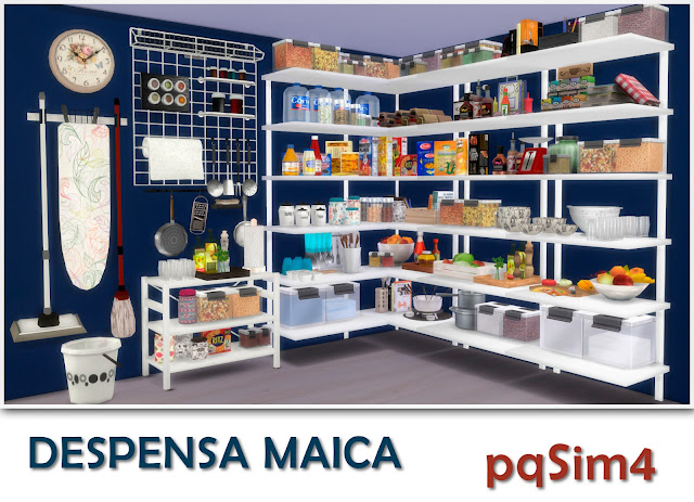 Despensa maica sims 4 custom content for G furniture mall meerut